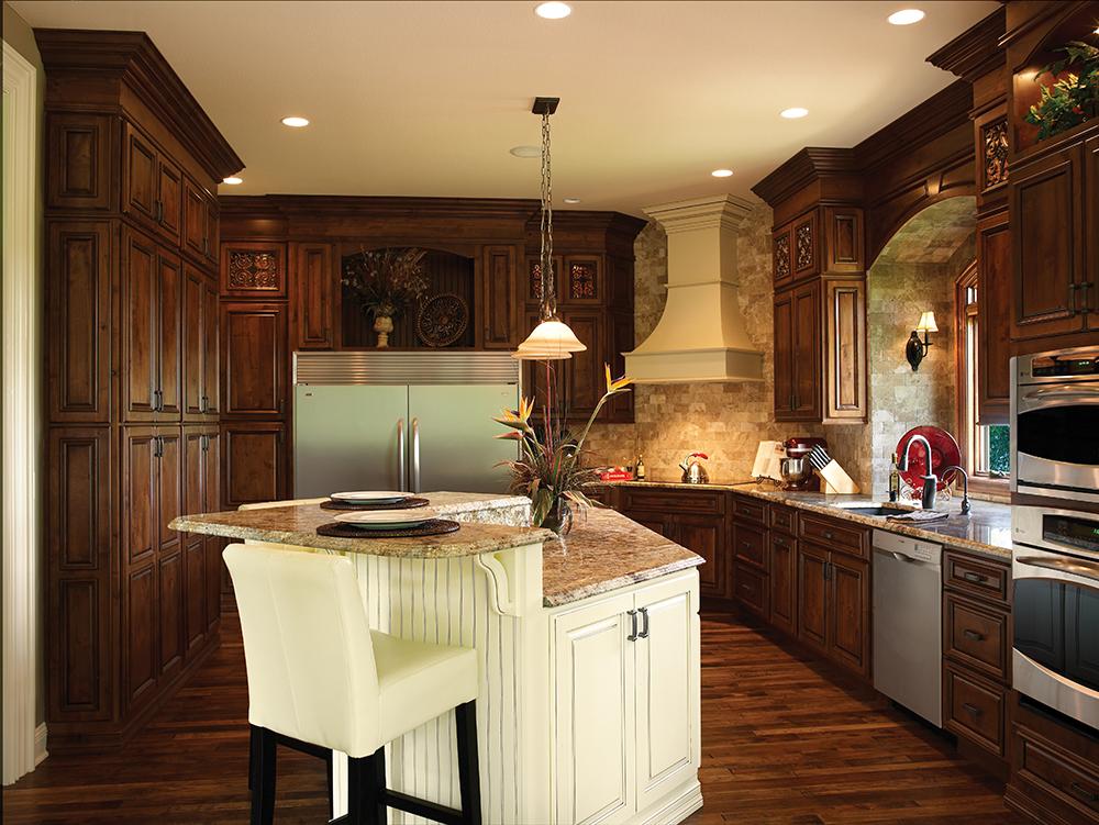 Shiloh Kitchen Walnut Black & Ivory Mocha - The Cabinetry Studio